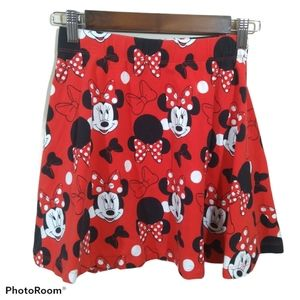 Minnie Mouse Girls Red Skirt Small